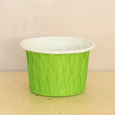 Форма бумажная одноразовая для маффинов 50/40 светло-зелёная