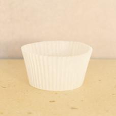 Капсула бумажная для выпечки 35*20 белая, 25 шт.