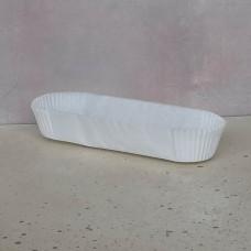 Капсула бумажная для эклеров 34*136*27 белая, 1 шт.
