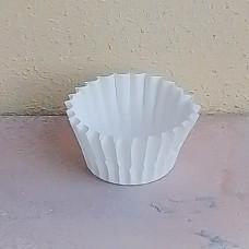 Капсула бумажная для выпечки 25*16 белая, 25 шт.