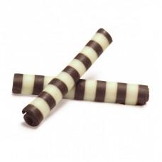 """Шоколадное украшение """"Твистер бело-черный"""", 50 гр"""