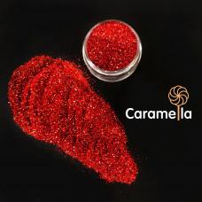 Глиттер пищевой Caramella красный