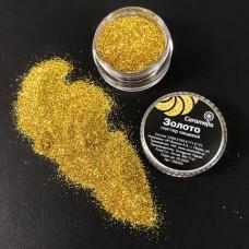 Глиттер пищевой Caramella золото.
