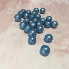 Драже воздушный рис, 12-13 мм, синий