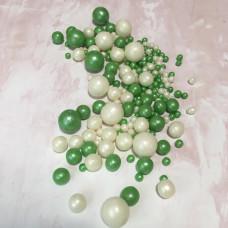 Драже воздушный рис, микс, бело-зеленый