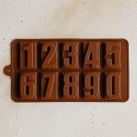 """Силиконовая форма """"Цифры"""" для шоколада"""