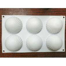 Силиконовая форма «Купол», 30×17,5 см, 6 ячеек (d=7,5 см)