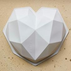 """Силиконовая форма """"Сердце Оригами"""", 19 см."""
