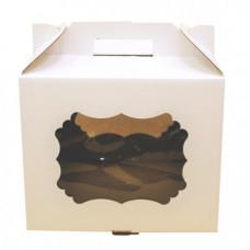 Короб для торта с окном и ручками 300*300*250