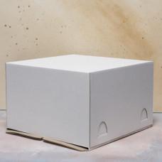 Короб картонный для торта белый 280*280*140 мм Хром-Эрзац