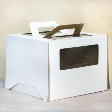 Короб для торта с окном и ручками 240*240*240