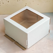 Короб для торта с окном 300*300*130