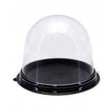 Коробка пластиковая для пирожного ПР-Т-85, черное дно