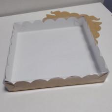 Коробка для пряников и печенья белая