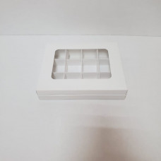 Коробка-книжка  на 12 конфет белая