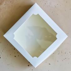 Короб для зефира с окном белый