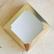 Короб для зефира с окном золотой